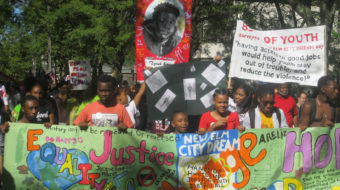 New Haven neighborhood's response to killing: unity and demand for jobs