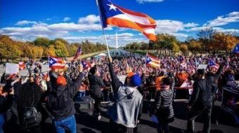 Washington march for Puerto Rico demands stepped-up rebuilding effort