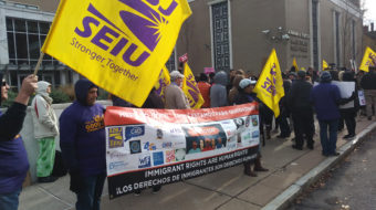 """Hundreds rally in Connecticut to """"Defend Our Immigrant Communities"""""""