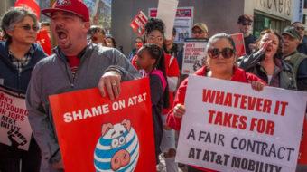 Communications workers rally in Daytona Beach