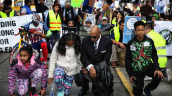 """Seattle MLK rally and march: """"Take a knee for justice"""""""