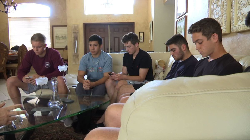 Six inseparable friends now even closer after school shooting