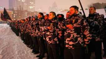 Fascistic Ukraine government attacks communists, squashes May Day preps