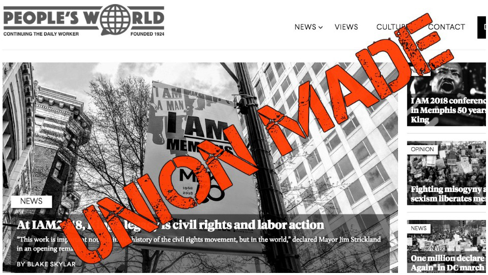 People's World goes union; editorial staff ratify first contract