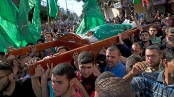 Palestinians bury those gunned down by Israel
