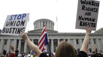 Ohio gubernatorial race: Sutton presses DeWine on 'right to work'