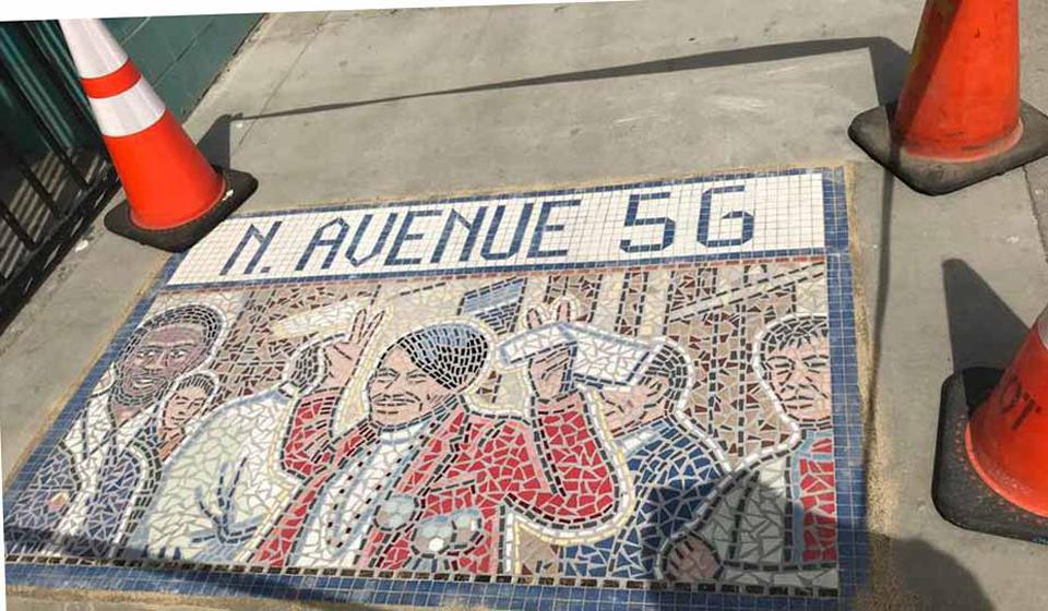 A new mosaic in Highland Park features activist Rosalio Urias Muñoz