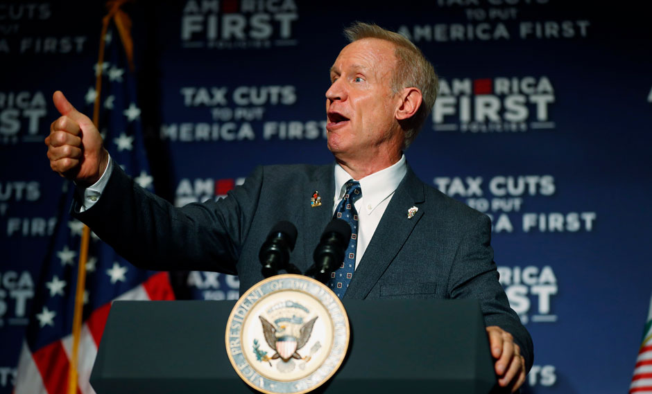 """GOP degrades women and workers, Illinois Gov. Rauner says """"Me too"""""""