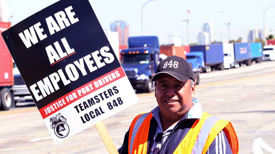 L.A. port truckers rack up two wins, but also forced to strike