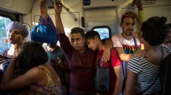 LGBTQ asylum-seekers first from refugee caravan to reach border