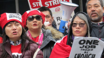 San Francisco Marriott workers celebrate new contract