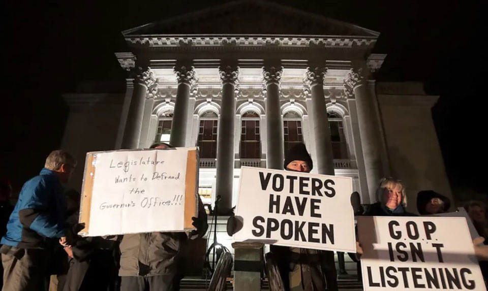 Wisconsin Republicans cementing their reversal of election results