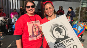 Walking and talking with L.A. teachers on strike