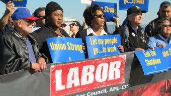 San Francisco unions and community demand, 'No More Shutdowns!'