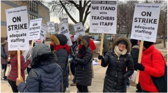 Chicago charter school teachers strike for smaller classes and higher pay