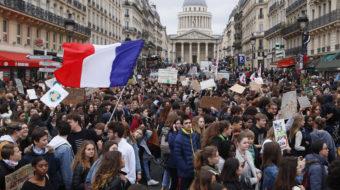 Estudiantes exigen acción contra el cambio climático