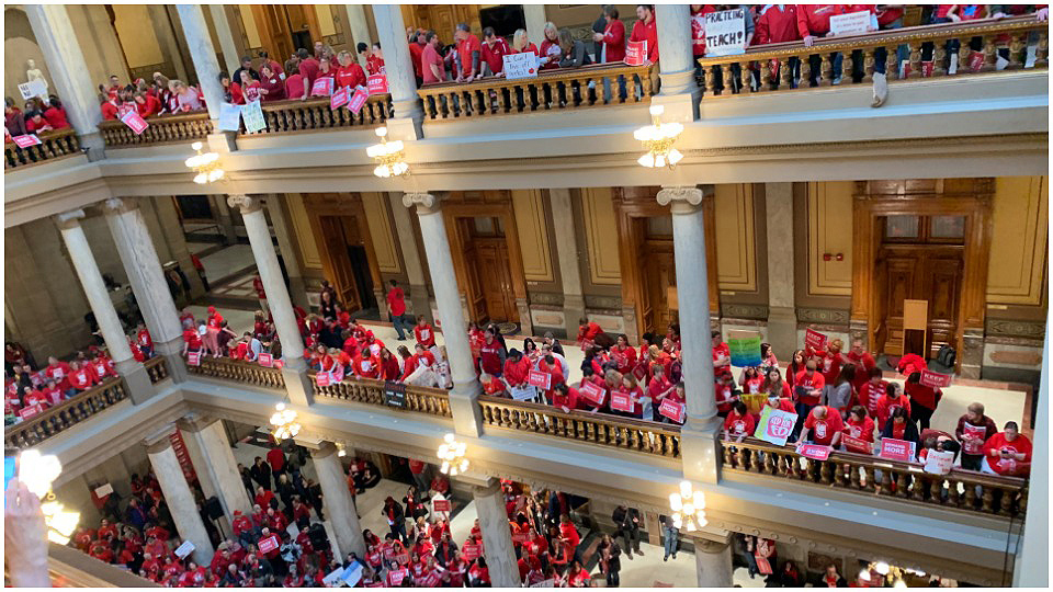 Indiana teachers join nationwide movement to save public education
