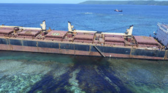 Ship leaks 80 tons of oil near Pacific UNESCO site