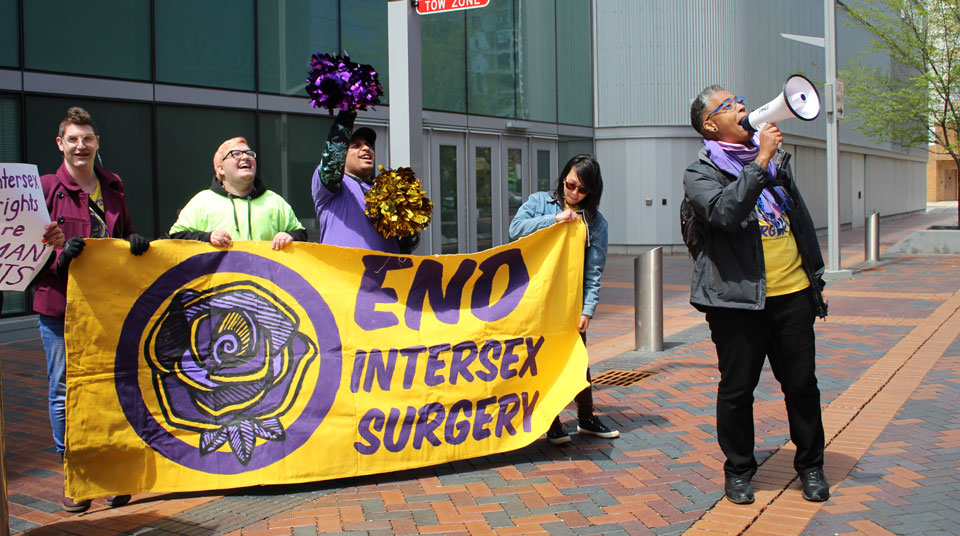 Intersex justice activists call on hospitals to stop unnecessary surgeries on infants