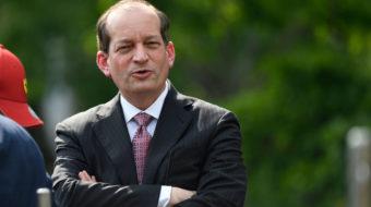 Labor Secretary Acosta says Trump administration opposes raising minimum wage