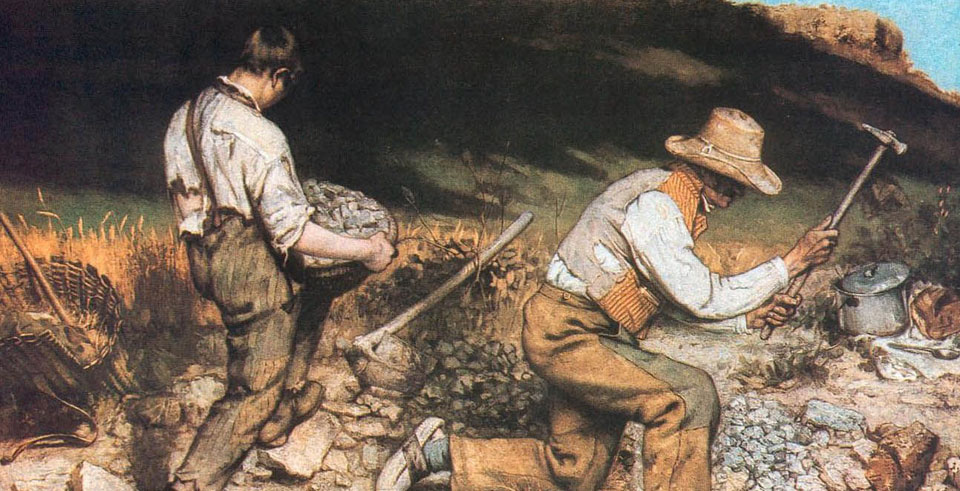 The working class becomes subject in the art of Gustave Courbet