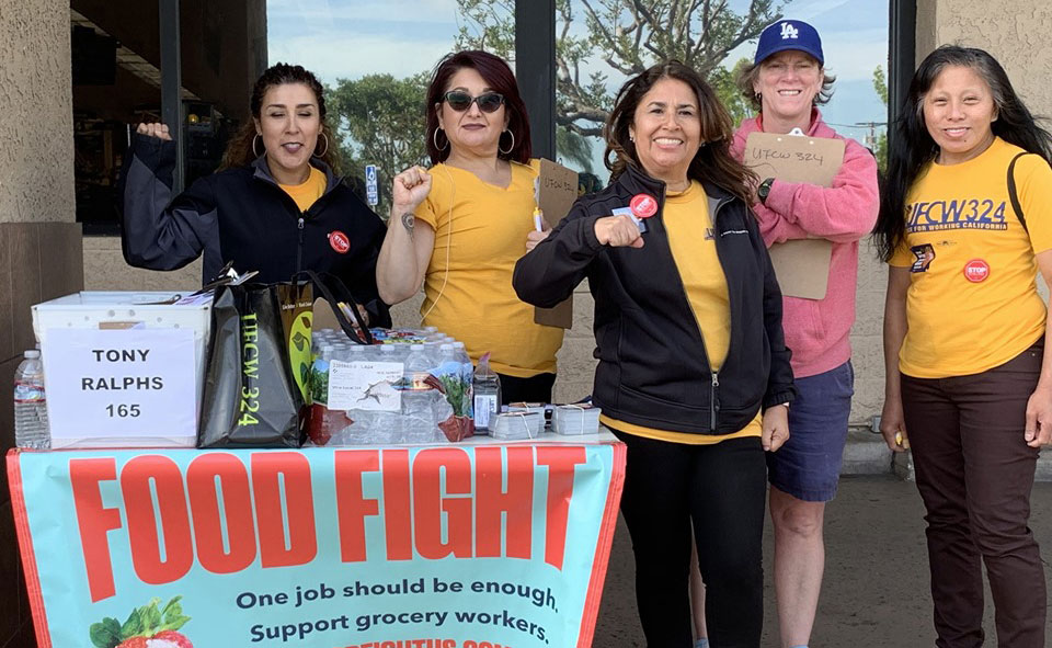 Helping California grocery workers avert a strike; supporting them if they do