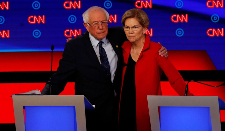 So-called 'moderates' try, but fail, to knock off Warren, Sanders
