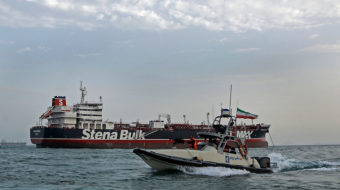 Iran says Britain acts at U.S. behest in ship seizure standoff