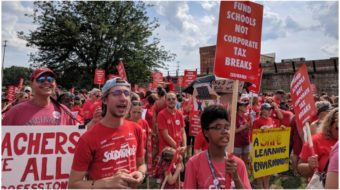 Columbus, Ohio teachers march for better schools, say strike is possible