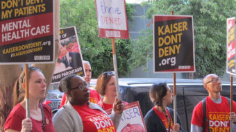 California Kaiser mental health clinicians in fight for patient care