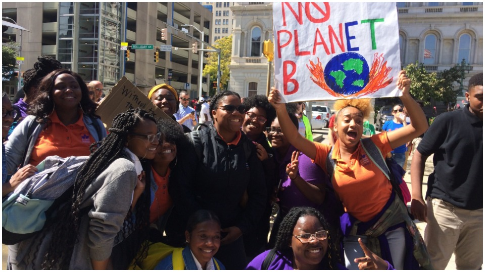 Youth lead fight for future at Baltimore Climate Strike