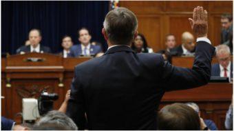 "Congress hears testimony from intel chief on ""smoking gun"" phone call"