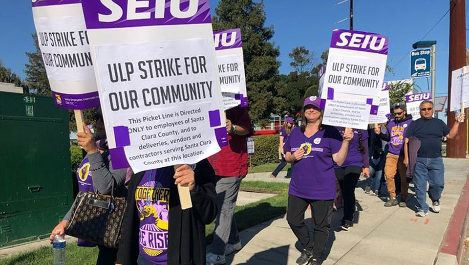 Santa Clara county public workers strike for community welfare