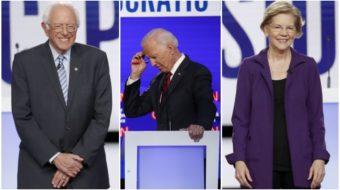 Dem hopefuls unite on impeachment, spar on Medicare-for-All
