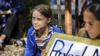 Swedish teen climate activist rallies crowd in South Dakota