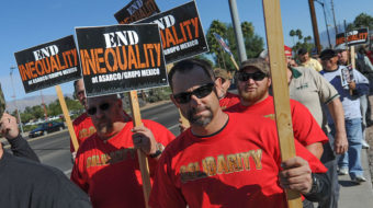 Tucson: Copper strikers and supporters rally for a fair deal