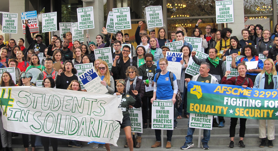 University of California service & patient care workers strike over illegal outsourcing