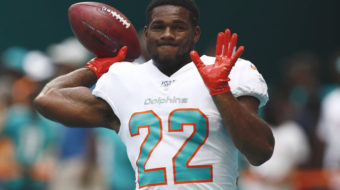 Miami Dolphins running back released from team following domestic violence arrest