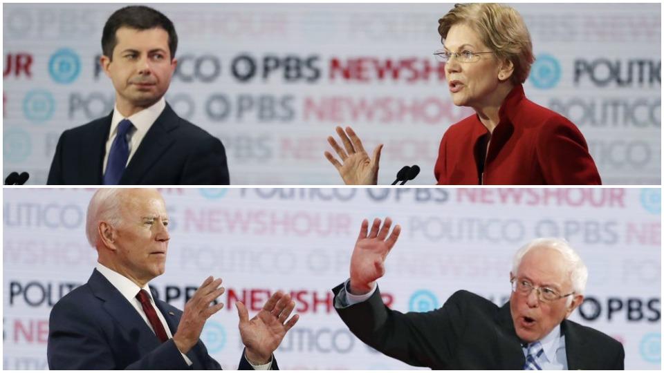 Sanders, Warren keep class central to debate; raise opponents' reliance on billionaires