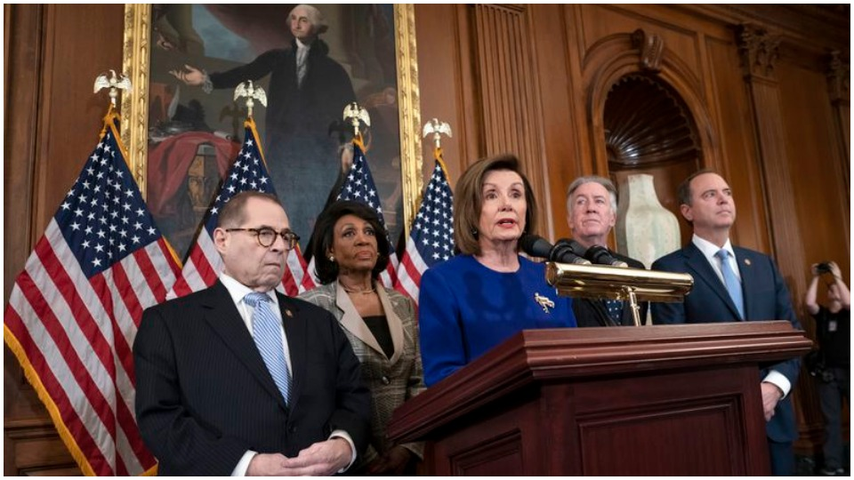 House leaders put forward articles of impeachment against the president