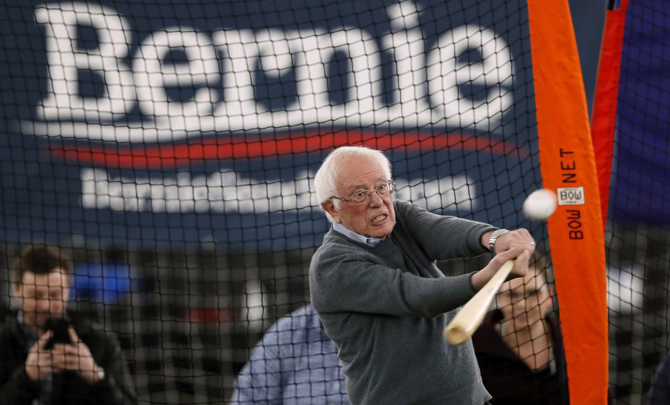 Bernie at bat? Sanders makes pitch for minor leagues
