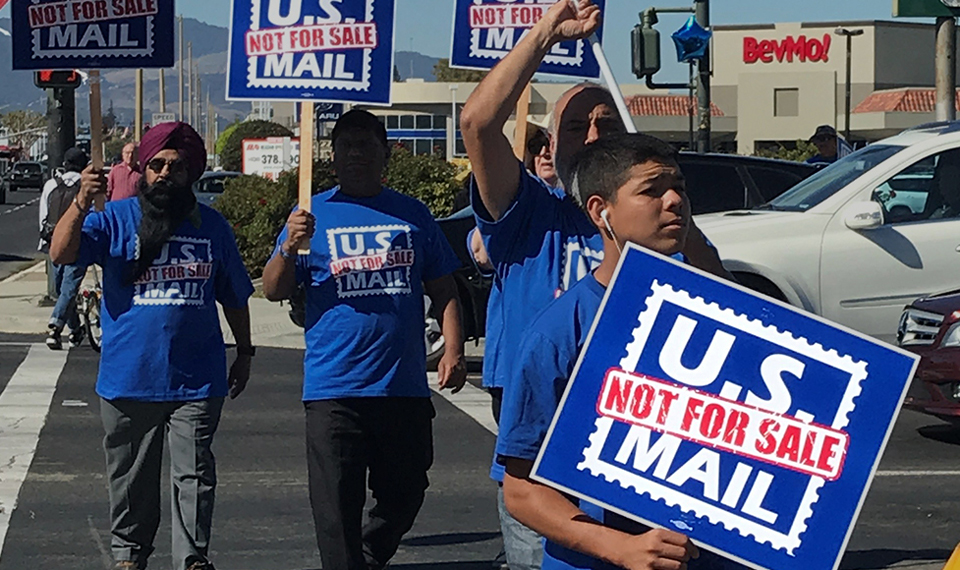 """Postal workers use video for """"U.S. Mail Not For Sale"""" campaign"""