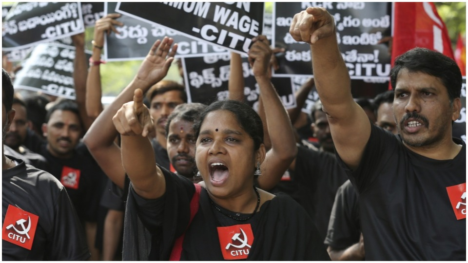 """""""The toiling people are rising"""": Up to 250 million strike in India"""