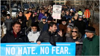 Unions, civil rights groups join mass NYC march against anti-Semitism