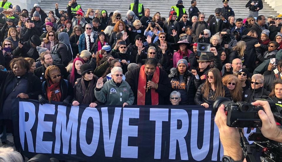 D.C. anti-Trump protests: Silent vigil demands Senate witnesses