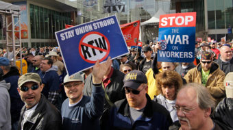 Warren introduces repeal of federal OK of RTW laws