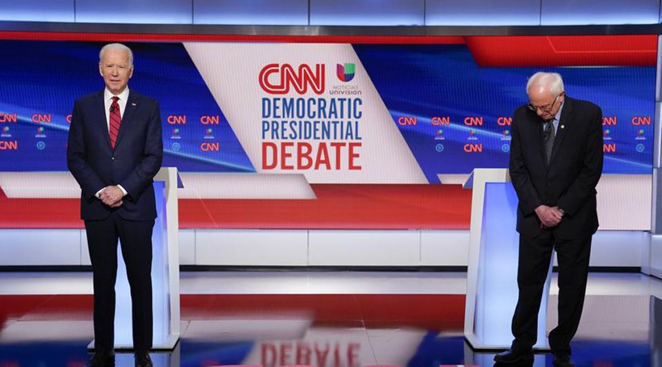 One-on-one debate sees Biden, Sanders emphasize differences on coronavirus