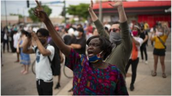 'I can't breathe!': Minneapolis erupts in protest after George Floyd murder