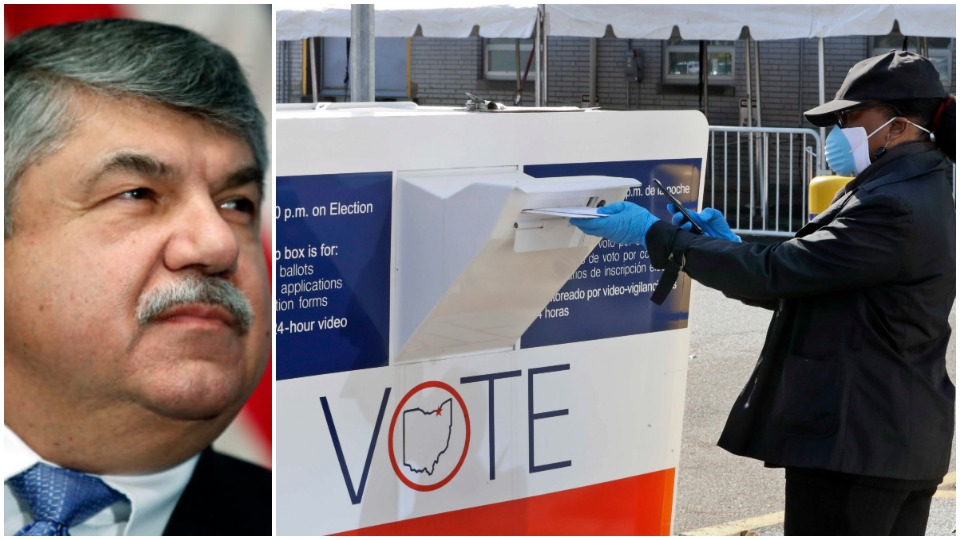 Union leaders back vote by mail