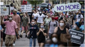 'I can't breathe!': Minneapolis erupts in protest after murder of George Floyd